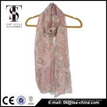 Watkins crepe printing chiffon pink scarf stole