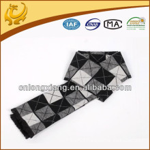 Classic Men Long Black White Check Wholesale India Bulk Pashmina Silk Scarves