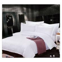 400T Algodão Egípcio Branco Jacquard Hotel de 5 Estrelas Conjunto de Roupa de Cama de Luxo