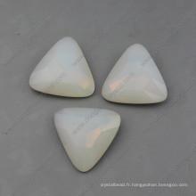 Perles de fantaisie en opale blanche pour bijoux