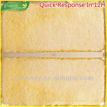 Marco de madera paquete peine miel con cera