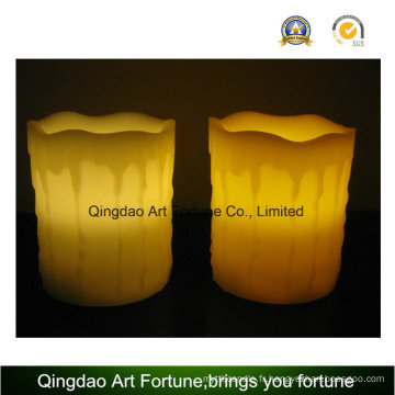 Flameless LED Candle-Dripping Finish