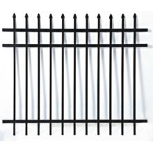 Perfil de aluminio Sección de la cerca negra