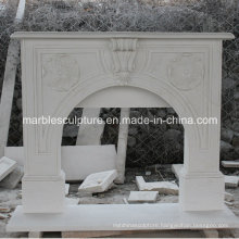 Simple Style Marble Fireplace with Hand Carved (SY-MF217)