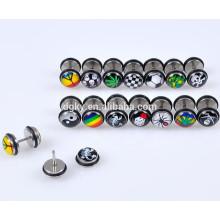 Logos Illussion Fake Ear Plugs Cheater Tapers Fake Plug