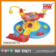 Новые продукты Крытый мультфильм Playsets Дети пластиковые игрушки площадка