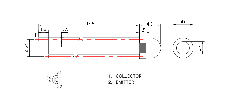 3mm IR Receiver LED