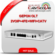 High Performance 4VoIP + 4fe + WiFi + CATV Gepon Optical Network Terminal Unit ONU