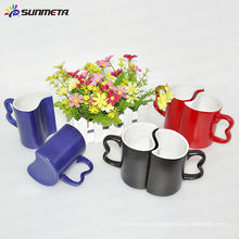 ceramic couple mug color changing for sublimation heat transfer printing images