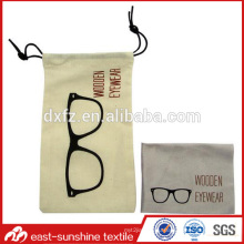custom cotton microfiber glasses drawstring bags