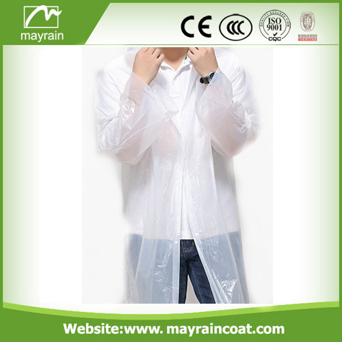 Transparent PE Disposable Raincoat