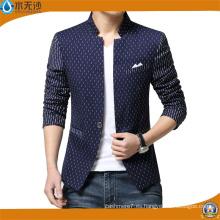Nueva moda para hombre chaqueta de algodón Blazer Slim Fit Blazer