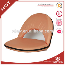 100% polyester floor chairs Padding sponge inner insert metal frame