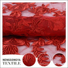 Oem profissional novo tecido solúvel em água bordado para o vestido