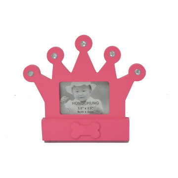 Belo quadro de coroa para presente de bebê