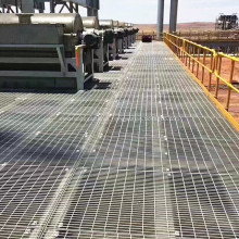 Reja / plataforma industrial de la reja de la barra de acero galvanizada