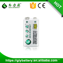 Preço de atacado de Alta Capacidade Geilienergy Polímero 9 V 680 mah Rechargeble Bateria