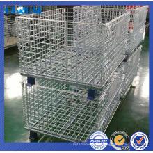 contenedor de alambre recubierto de polvo / contenedor apilable de alta calidad de malla de alambre