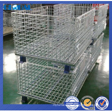 powder coated wire container/high quality stackable container of wire mesh