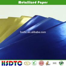 Papel metalizado coloreado para impresión