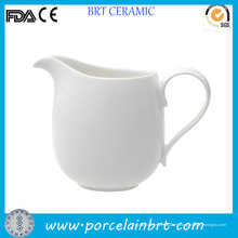 Jarra de crema de café de agua blanca porcelana