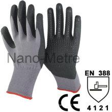 NMSAFETY polyuréthane enduit spandex nitrile enduit gant de travail gants nitrile spandex