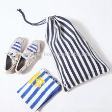 Bolso del zapato del algodón de la lona del logotipo de la fábrica de la promoción