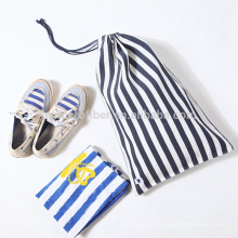 Promotion usine logo imprimé toile sac à chaussures en coton en gros
