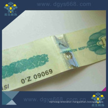 Highly Security Concert Tickets with Barcode Anti-Counterfeiting Printing