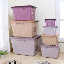 Caixa de armazenamento plástica com rodas Caixa portátil Caixa de armazenamento de veículos