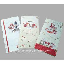 Hot Sale New Design Holiday Cartes de voeux / Carte de Noël avec enveloppement