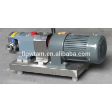 Sanitary rotary lobe industrial stainless steel liquid pump