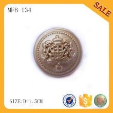 MFB134 Botón del metal de la aleación del cinc, botón E-amistoso de la característica a coser de China