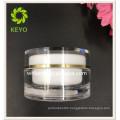 high quality 100g acrylic jar luxury double wall acrylic cosmetic jar