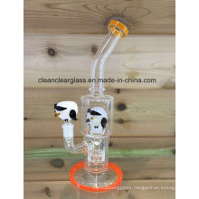 "12"" Glass Water Pipe Glass Smoking Pipe with Tyre Perc"
