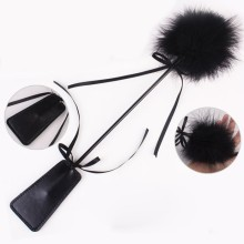 Faux Leather Spanking Paddle Feather Whip Flirting Adult Products