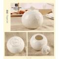 Motif élégant, sac à main en porcelaine fine blanche, pot de crème, pot à sucre