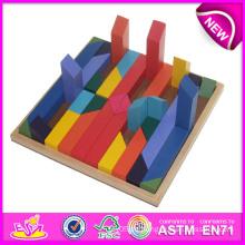 Bunte Holz Puzzle Spielzeug für Kinder, Puzzle Spielzeug Großhandel für Kinder, Puzzle Holz Puzzle Blöcke für Baby W13A060