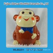 Lustiges keramisches Plätzchenglas in Affenform