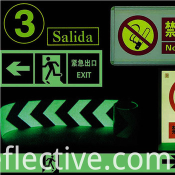 glow in the dark film photoluminescent self-adhesive vinyl