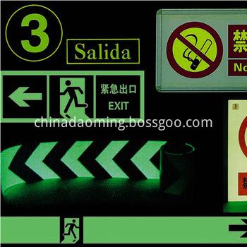 glow in the dark film photoluminescent self-adhesive vinyl