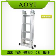 Escada dobrável de alumínio de 4 seções