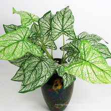 cheap decorative fire-retardant artificial leaves green