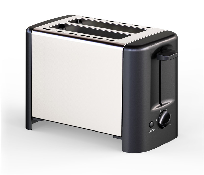 Reheat Toaster Stainless Steel Metal Wall 2 Slice Electric Bread Toaster for Home Appliance