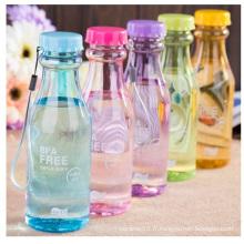Bouteille en plastique plastique résistant à la chaleur, bouteille en plastique portative en gros