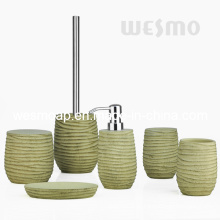 Texturas de madeira Acessórios de banho de poliresina (WBP0832A)