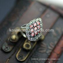 Anéis de prata tailandeses da jóia luxuosa do projeto antigo