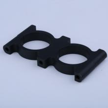 Abrazadera de tubo de fibra de carbono redonda Soporte anodizado de aluminio
