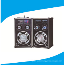 8 pulgadas 2.0 Powered altavoces DJ con disco de luz 6006