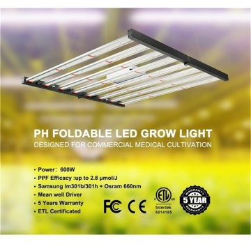 Faltbare Vollspektrum-LED-Pflanze wächst leicht